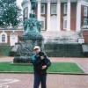 "08Mar12: Visiting UVa, showing where I used to ""commune"" with Mr. Jefferson about my first puppy"