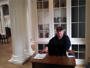 October 11, 2013: Finishing work on Shayna's book, in my intellectual cathedral, the Dome Room atop the Rotunda, designed by Thomas Jefferson.