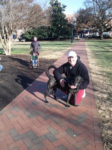 A walk at the University of Virginia on December 15, 2013.